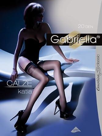 Gabriella Femmes Bas pour Porte-Jaretelles GB-227 20 DEN (Neutro, 1/2 (32-38))