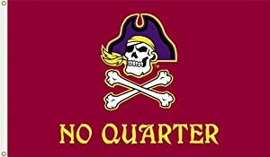 NCAA East Carolina Pirates 3-by-5 Foot Flag No Quarter with Grommets by BSI
