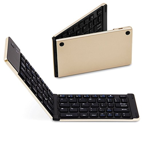 SMICK Foldable Wireless Bluetooth Keyboard for iPad, Macbook, iPhone7 etc.,F66 GOLD (10 Keyboard Slide compare prices)