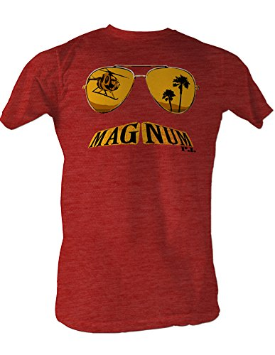 Magnum P.I, occhiali must ache Burgundy Heather hadband T-Shirt