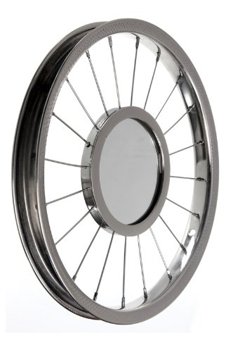 Recycled Bicycle Wheel Contemporary Modern Funky Wall Mirror Home Décor Christmas Gift Festive Homeware Set