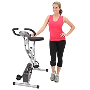 Exerpeutic Folding Magnetic Upright Bike with Pulse by Exerpeutic