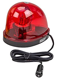 Wolo (3210-R) Emergency 1 Rotating Warning Light - Red Lens, Magnet Mount