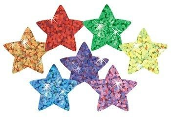 Trend Enterprises Assorted Color Sparkle Stars Stickers, 400 per Package (T-46405)