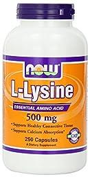 Now Foods L-Lysine 500mg, 500 Tablets