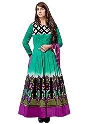 Jinaam Dress Women Cotton Dress Material (Jd-8320A _Pink & Green)
