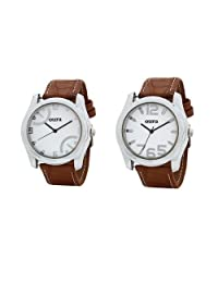 Oura Round Casual Wear Watch For Men Combo OF 2pc - B01AZGXMY4