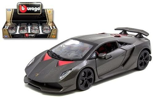 New 1:24 DISPLAY Bburago - MATTE GREY LAMBORGHINI SESTO ELEMENTO Race Diecast Model Car By BBurago (Die Cast Sesto Elemento compare prices)