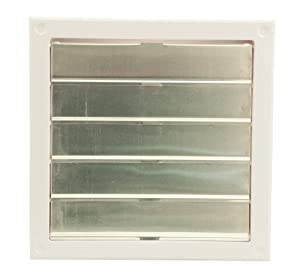 Cool Attic CX2121 Automatic Gable Vent Shutter, High Impact One-piece ABS Cycolac Frame