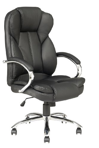 Image of BestChair OC-2618H-Black Black High Back Pu Leather Executive Office Desk Task Computer Chair Wmetal Base O18