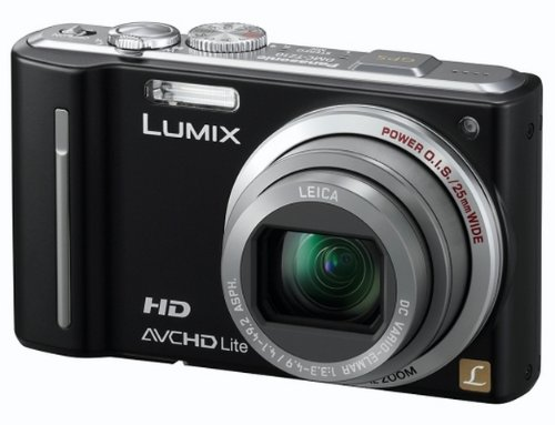Panasonic Lumix TZ10 Digital Camera - Black (12.1MP, 12x Optical Zoom) 3.0 inch LCD