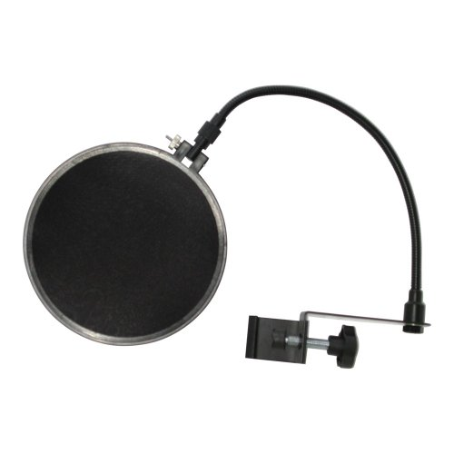 """Audio 2000S Aws4071 7.4"""" Dual Screen Clamp On Microphone Pop Filter"""