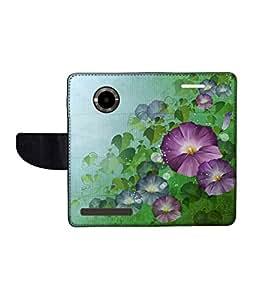 KolorEdge Printed Flip Cover For Micromax Yu YuPhoria Multicolor - (1478-50KeMLogo09326MmxYuPhoria)
