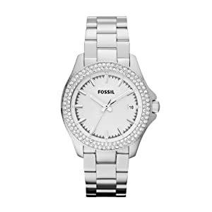 Fossil AM4452 Ladies RETRO TRAVELLER Silver Watch