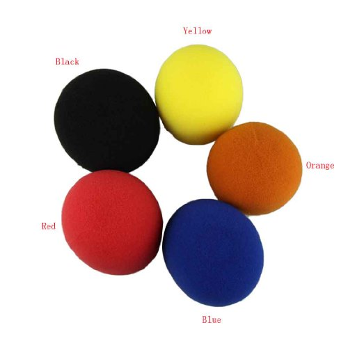Voberry 5 Pack Black/Red/Yellow/Blue/Orange Handheld Stage Microphone Windscreen Foam Cover