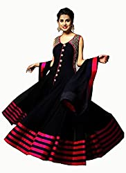 Fashion Gallery Black Georgette Designer Lehenga