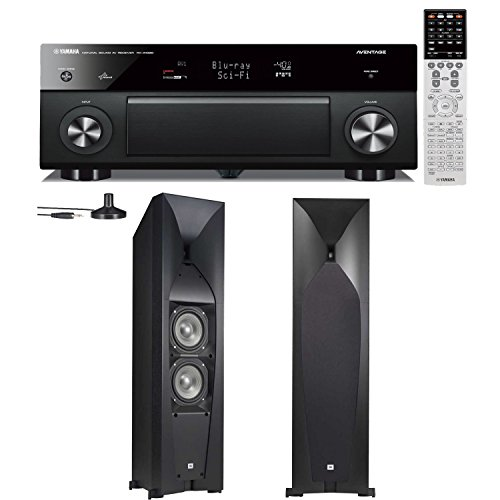 Yamaha Rx-A1030 7.2 Channel Network Audio Video Receiver Plus A Pair Of Jbl Studio 570 Floorstanding Speakers