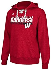 Adidas Wisconsin Badgers Adult Stickshot Hooded Sweatshirt by adidas