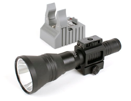 Streamlight Strion Rechargeable Led Hp Flashlight, With 120V Ac-12V Dc Charger Holder & Tactical Weapon Rail Mount Package