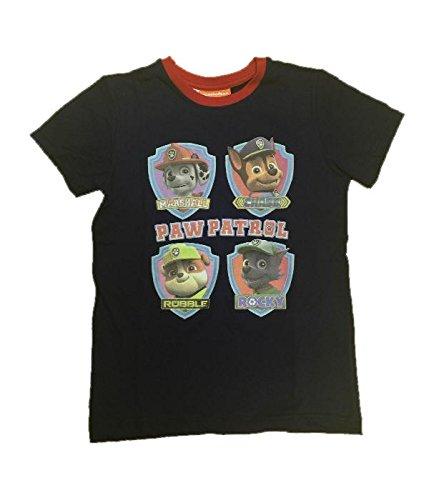 Maglietta Bambino Paw Patrol, T-shirt Bimbo Marshall Chase Rocky Rubble *23158 - Blu 3a