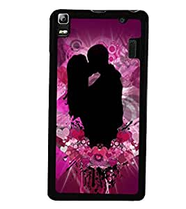 Fuson Premium My Valentine Metal Printed with Hard Plastic Back Case Cover for Lenovo A7000