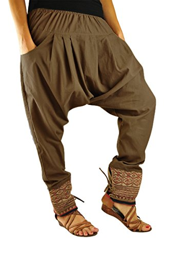 Taglia unica vestiti alternativi per l'uomo e per la donna, UNISEX pantaloni alla turca con tradizionali cuciture e comoda cintura alla vita - Unverschämt