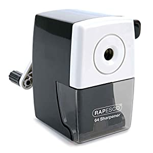 Rapesco 64 Desk Top Pencil Sharpener - For all 6mm Pencils - Black