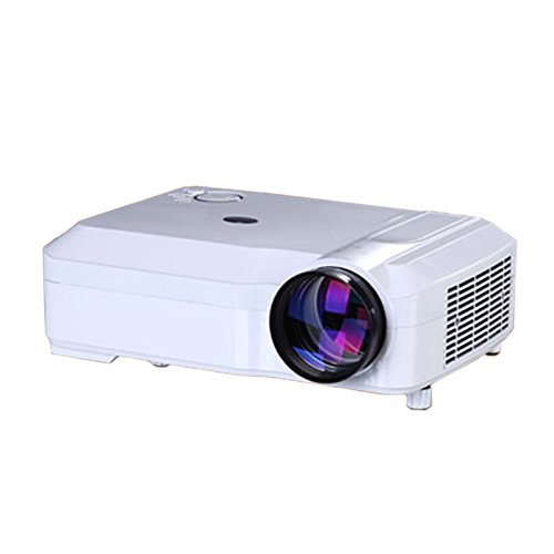 TOOGOO(R) Projecteur HD 2800 lumens projecteur multimedia LED Blanc