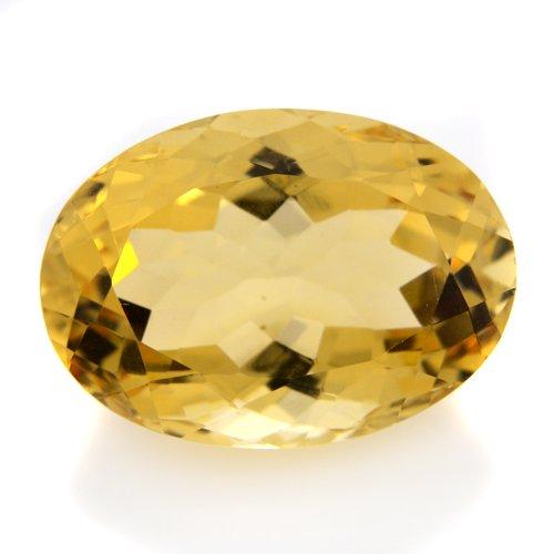 Natural Yellow Citrine Loose Gemstone Oval Cut 12.05cts 18*13mm VVS Top Grade