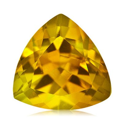 1.50 Cts of 8 mm AA Trillion Loose Yellow Beryl ( 1 pc ) Gemstone