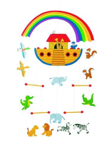 """Noahs Ark Wooden Mobile 12"""" by Goki"""
