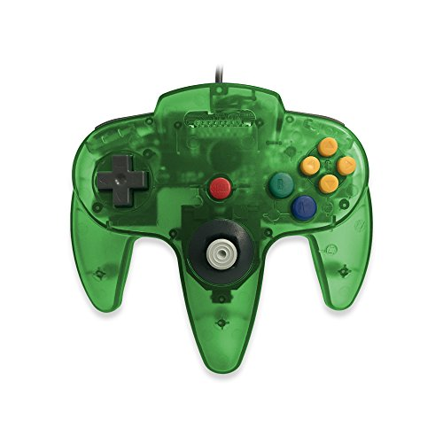 Old Skool Classic Wired Controller Joystick for Nintendo 64 N64 Game System - Jungle Green (Old Game Consoles Nintendo compare prices)