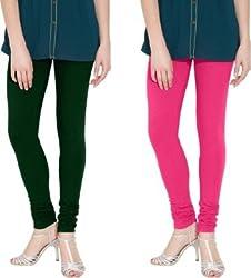 Crazy Sutra Women's Latest Fashion Combo - High Quality Black Legging & Rani Legging