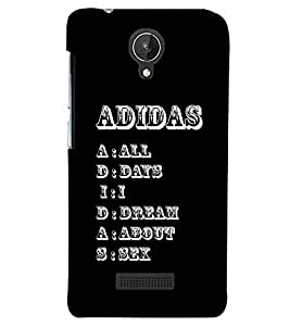 PRINTSWAG TEXT Designer Back Cover Case for MICROMAX CANVAS SPARK Q380