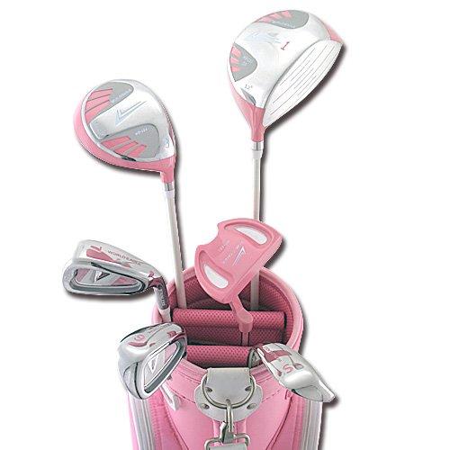 ワールドイーグル101レディース8点ハーフゴルフクラブセット ピンク