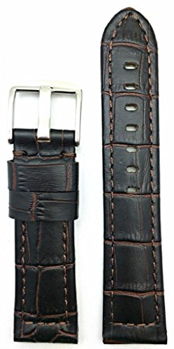 22Mm Medium Padded, Alli Croco Grained Leather For Your Sporty Watch