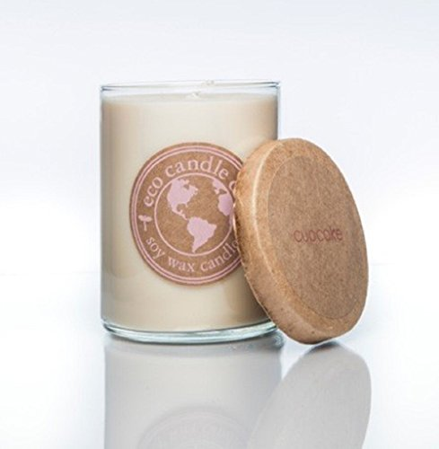 Eco Candle 16oz Recycled Glass Tumbler - CUPCAKE; 100% USA Made Scented Soy Candles; White; Great Long Lasting Scent (Root Candle Company compare prices)