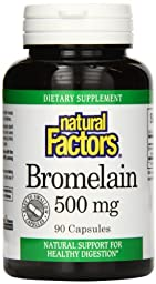 Natural Factors Bromelain 500mg Capsules, 90-Count