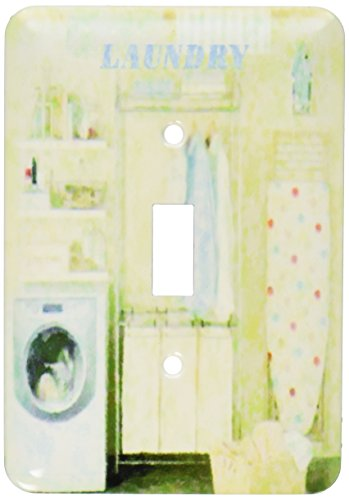 3dRose LLC lsp_109731_1 Laundry Room In Yellow N Blue Single Toggle Switch (Wall Cover Cloth compare prices)