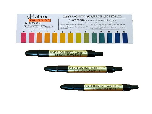3 Pack Hydrion P-12m Insta- Chek 0-13 Mechanical Ph Pencils