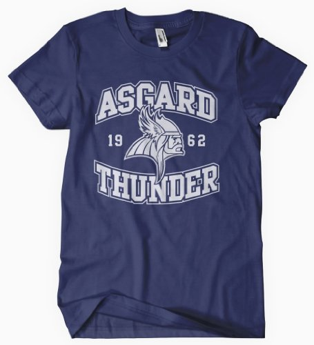 The Avengers Assemble T shirt The Mighty THOR Asgaurd Thunder Navy
