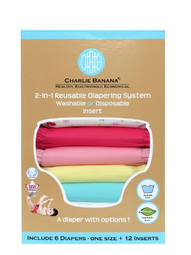 Charlie Banana 2-In-1 Reusable Diapers, Hot Pink front-130930