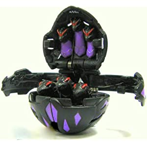 Bakugan B2 Bakuclear Single LOOSE Darkus Black EXEDRA