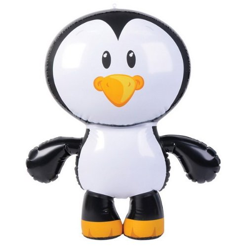 "Rhode Island Novelty Inflatable Penguin Party Accessory, 24"", Black and White"