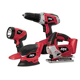 Skil 2887-23-RT 18V Cordless 4-Tool Combo Kit (Factory Reconditioned)