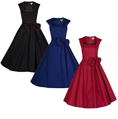 Lindy Bop Women's 'Grace' Classy Vintage 1950's Rockabilly Bow Dress