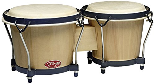 Stagg BW-70-N 6-Inch & 7-Inch Traditional Wooden Bongo Set - Natural