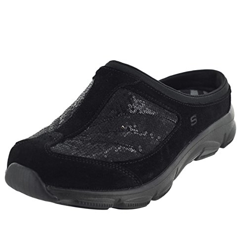Skechers Relaxed Fit Comfy Living Womens Slip On Sneaker Clogs Black 7
