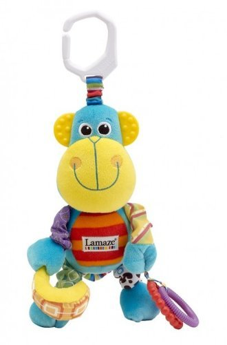 Lamaze Baby Early Development Toys Multifunctional Plush Monkey Bed Hang/Bell front-522393