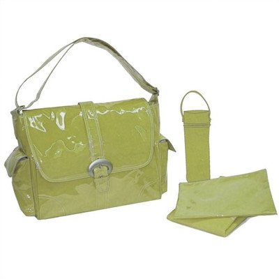 Laminated Buckle Diaper Bag Color: Avocado Green - 1